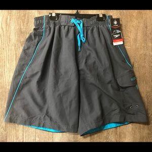 NWT Speedo Size SM UV Protection 50+ Swim Shorts